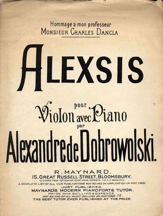 9165 | Alexsis - For Violon avec Piano