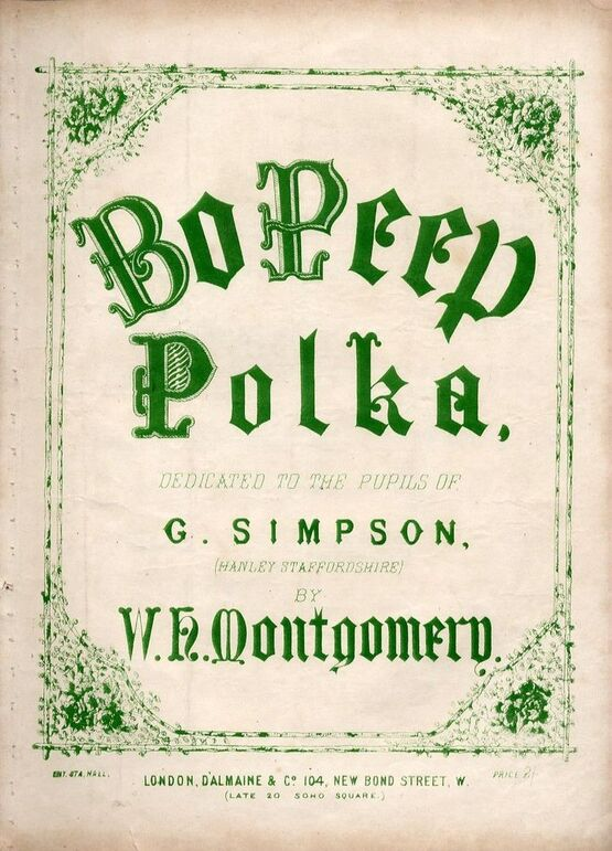 9246 | Bo Peep - Polka - Dedicated to the pupils of G Simpson (Hanley Staffordshire)