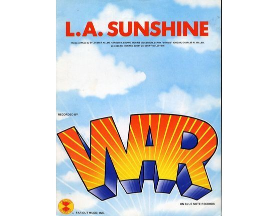 10347 | L. A. Sunshine - Recorded by WAR - For Piano and Voice with Guitar chord symbols