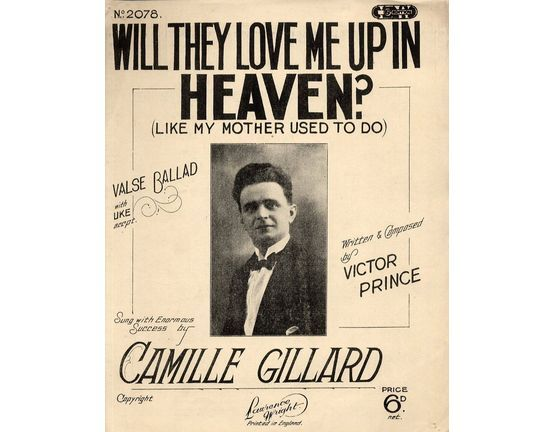 11 | Will They Love Me Up In Heaven Like My Mother Used To - Valse Ballad with Ukulele Accompaniment - Sung by Camille Gillard