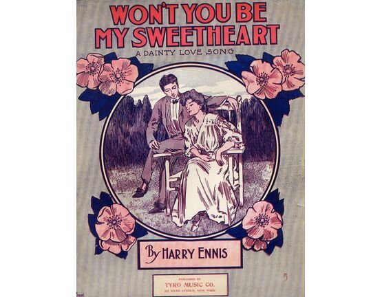 12712 | Won\'t You Be My Sweetheart - A Dainty Love Song - For Piano and Voice