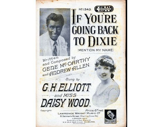 187 | If Youre Going Back to Dixie - featuring Daisy Wood and G H Elliott