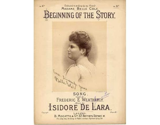 2021 | Beginning of the Story, dedicated to Madame Belle Cole,