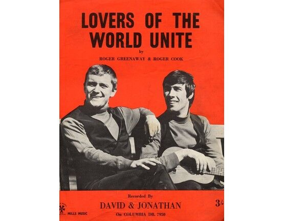 3955 | Lovers of the World Unite - Song - Featuring David and Jonathan