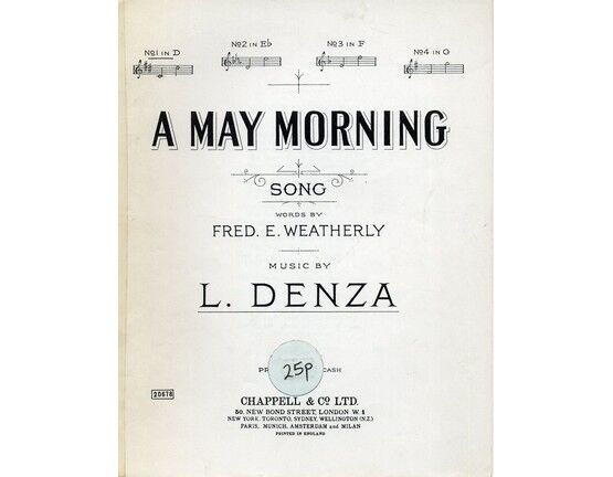 4 | A May Morning - Song - In the key of D major for low voice
