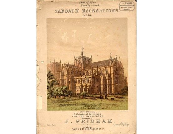 4 | Sabbath Recreations No.20, a collection of sacred airs for the piano illustrated with lithograph of Ripon Cathedral,