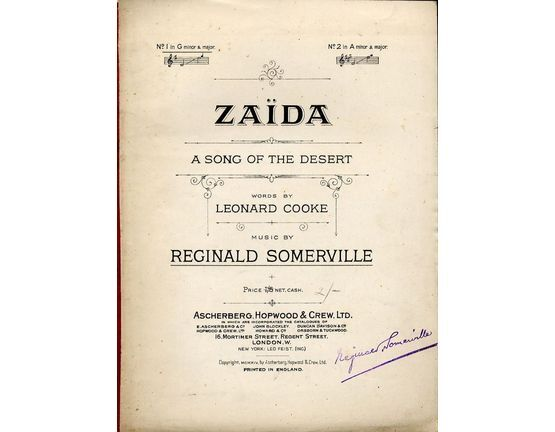 4 | Zaida. A song of the Desert