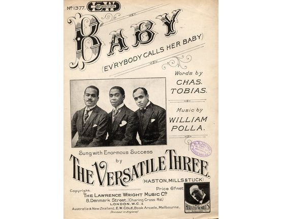 5039 | Baby (Ev\'rybody calls her Baby) - Featuring The Versatile Three (Haston, Mills and Tuck)