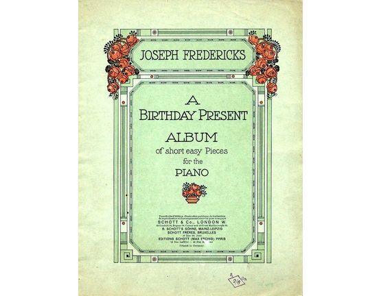 5278 | A Birthday Present Album of short easy pieces for the Piano - Book 2