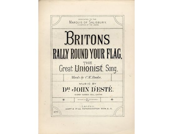 5729 | Britons Rally Round Your Flag, the great unionist song
