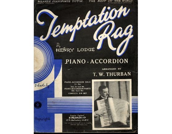5925 | Temptation Rag -  two step arranged for Piano Accordion