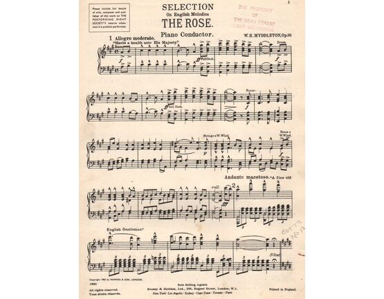 6099 | \'The Rose\' - Selection.  On English melodies