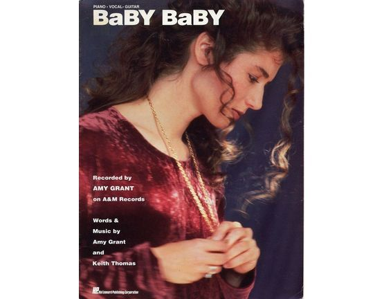 6145 | Baby Baby - Recorded by Amy Grant on A and M Records - For Piano and Vocal with Guitar chord symbols