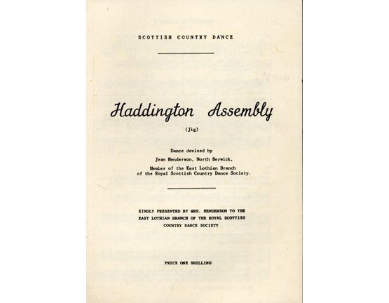 7378 | Haddington Assembly (jig) - Scottish Country Dance with Instructions for the Dance