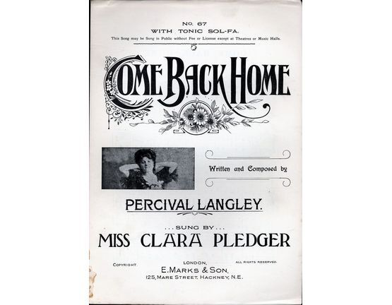 7788 | Come Back Home - Featuring Miss Clara Pledger