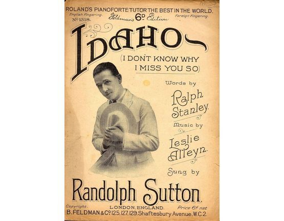 7791 | Copy of Idaho (I dont know why I miss you so) Featuring Randolph Sutton