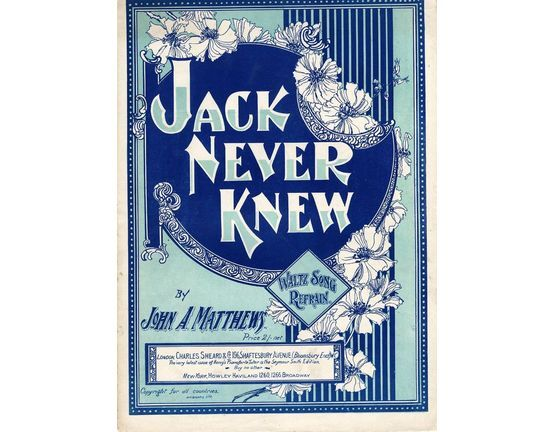 7856 | Jack Never Knew - Waltz Song and Refrain