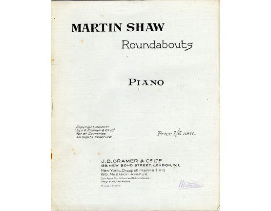 7862 | Roundabouts - For Piano