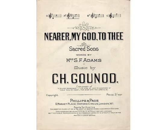 7863 | Nearer My God To Thee - Sacred Song - In the key of A flat major