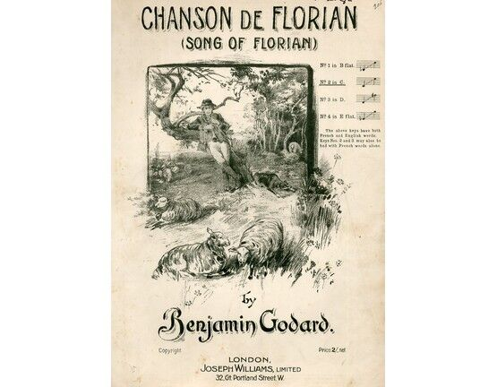 7964 | Chanson De Florian (Song of Florian) - Song in the key of C Major for Medium Low Voice