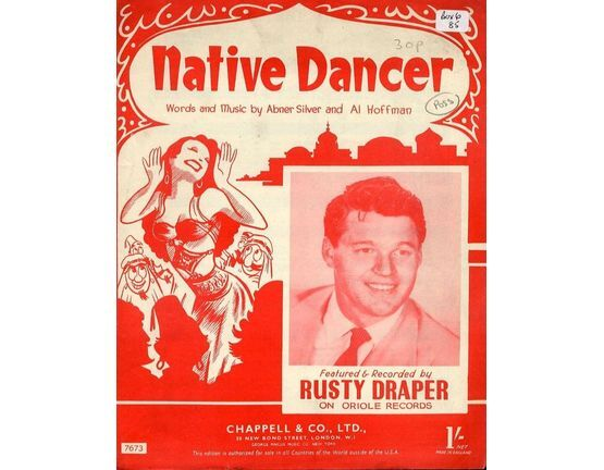 7979 | Native Dancer - Featured and Recorded by Rusty Draper on Oriole Records - For Piano and Voice with chord symbols
