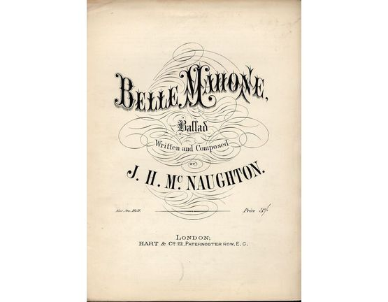 8384 | Belle Mahone - Ballad - For Piano and Voice