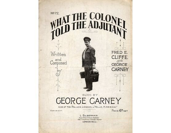 9831 | What The Colonel Told The Adjutant - Song featuring George Carney