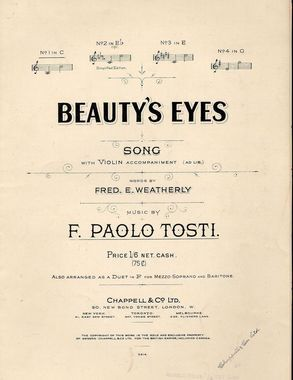 19th Century Songs Beginning With B